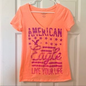 American Eagle Live Your Life V-Neck Tee